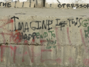 An image from the separation wall