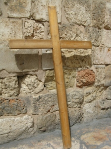 A cross on the Via Dolorosa.